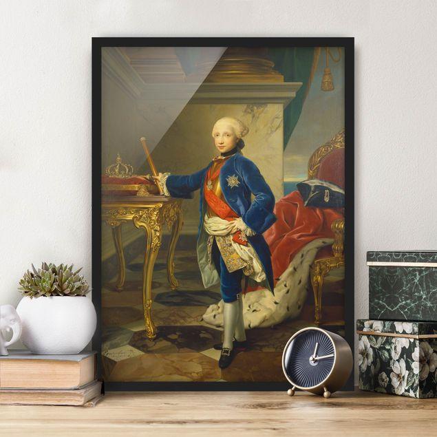 Poster con cornice - Anton Raphael Mengs - Ferdinand Iv King Of Naples - Verticale 4:3