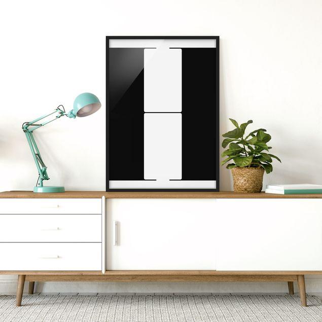 Poster con cornice - Antiqua Letter H - Verticale 4:3