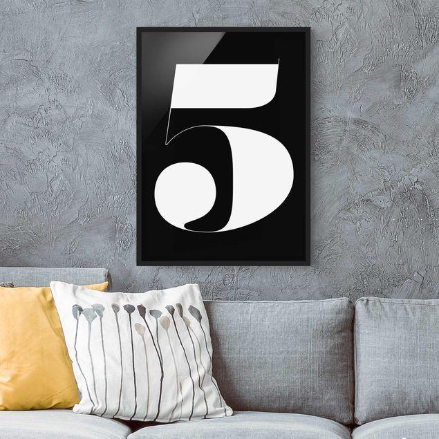 Poster con cornice - Antiqua Number 5 - Verticale 4:3