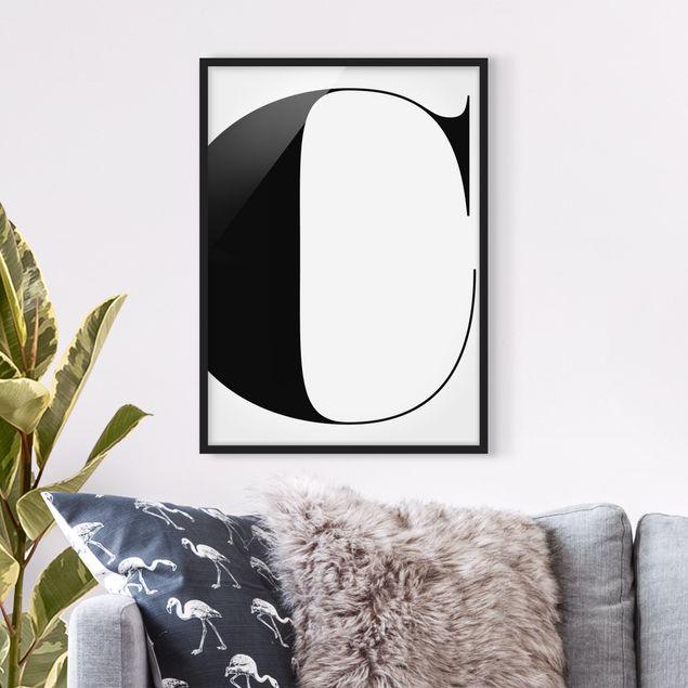 Poster con cornice - Antiqua Letter C - Verticale 4:3