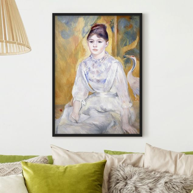 Poster con cornice - Auguste Renoir - Young Girl With A Swan - Verticale 4:3
