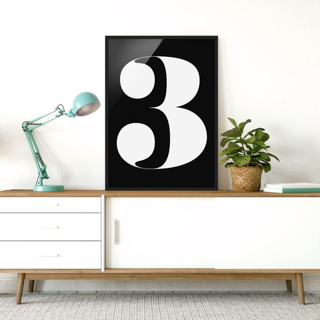 Poster con cornice - Antiqua Number 3 - Verticale 4:3