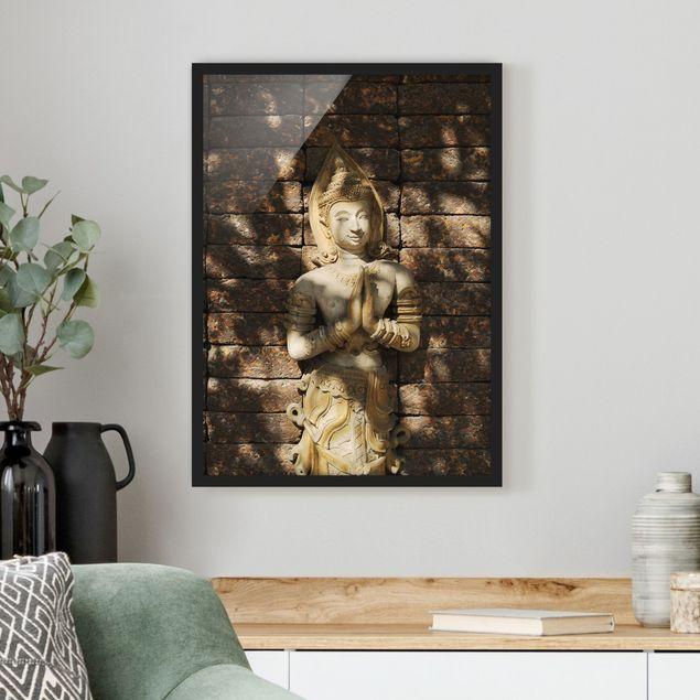 Poster con cornice - Calm Temple Dancer - Verticale 4:3
