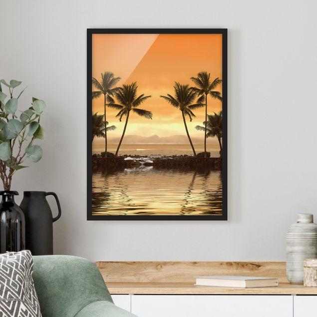 Poster con cornice - Caribbean Sunset I - Verticale 4:3