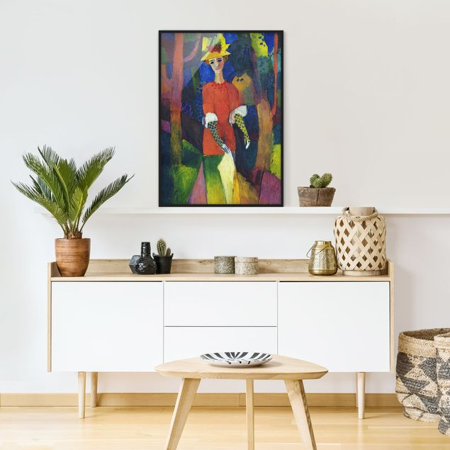 Poster con cornice - August Macke - Lady In A Park - Verticale 4:3