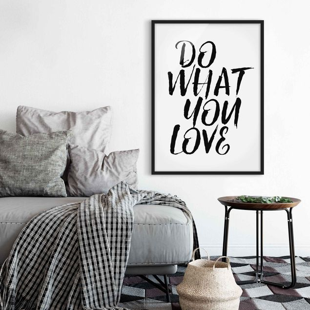 Poster con cornice - Do What You Love - Verticale 4:3