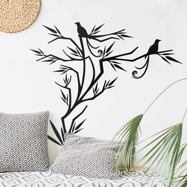 Adesivo murale - albero uccello
