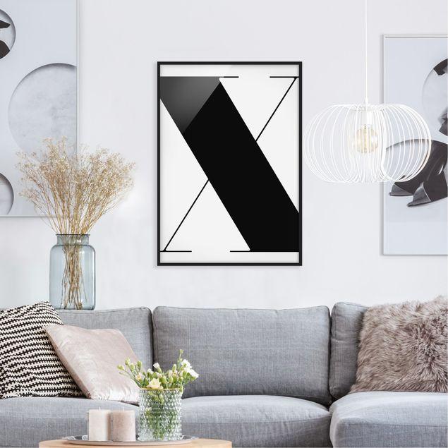Poster con cornice - Antiqua Letter X - Verticale 4:3
