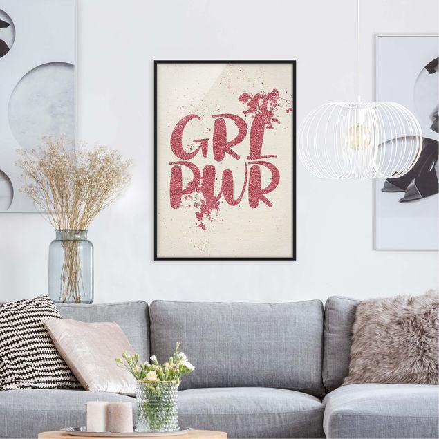 Poster con cornice - Girl Power - Verticale 4:3