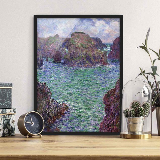 Poster con cornice - Claude Monet - Port-Goulphar, Belle-Île - Verticale 4:3