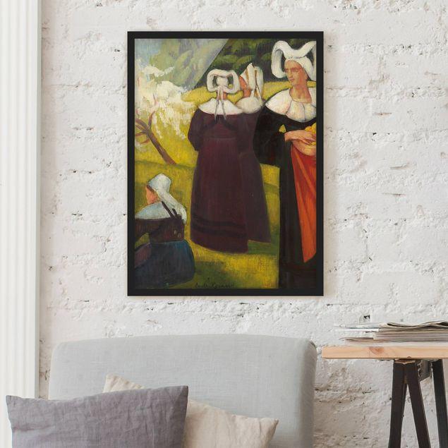 Poster con cornice - Emile Bernard - Apple Pickers In Pont-Aven - Verticale 4:3
