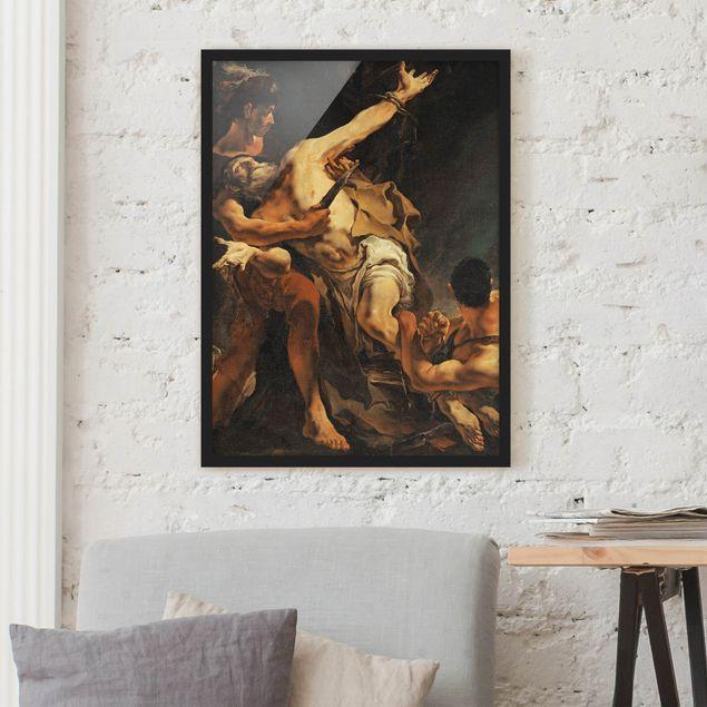 Poster con cornice - Giovanni Battista Tiepolo - The Martyrdom Of St. Bartholomew - Verticale 4:3