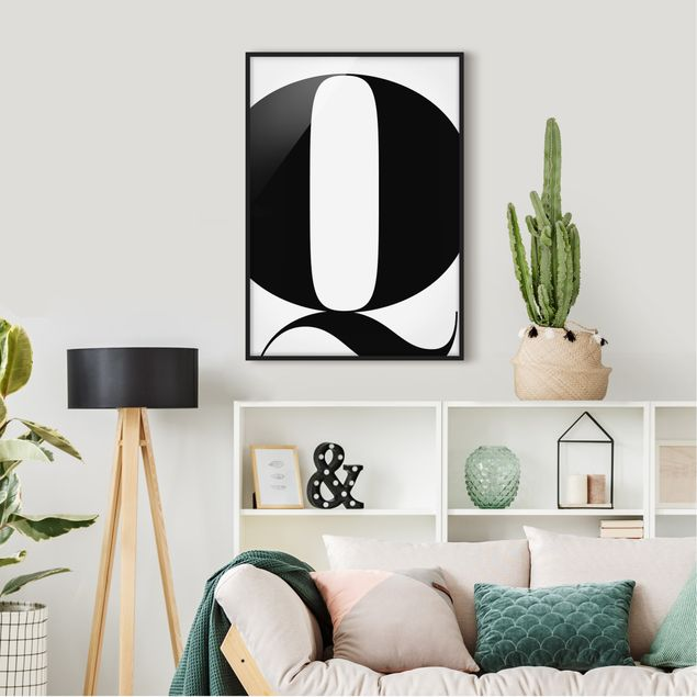 Poster con cornice - Antiqua Letter Q - Verticale 4:3