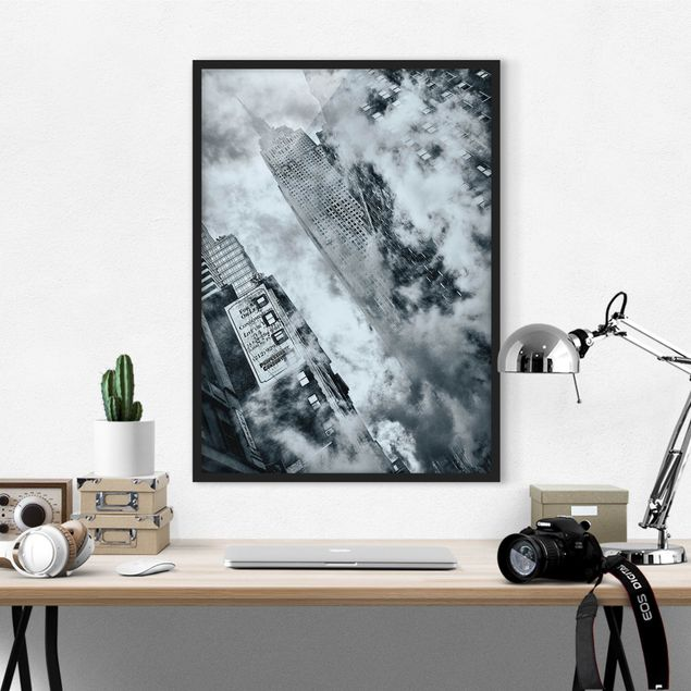 Poster con cornice - Face Of The Empire State Building - Verticale 4:3