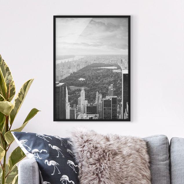 Poster con cornice - Overlooks Central Park Ii - Verticale 4:3