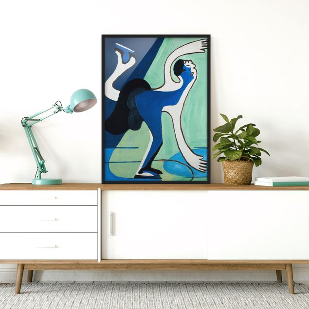 Poster con cornice - Ernst Ludwig Kirchner - The Ice Skater - Verticale 4:3