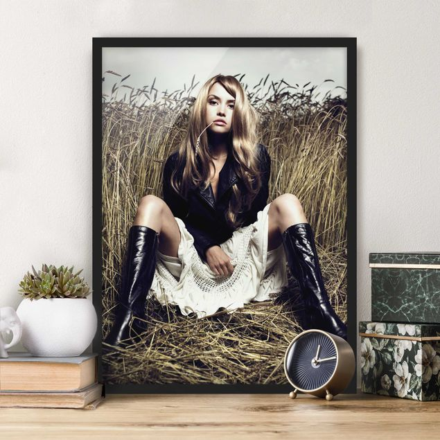 Poster con cornice - Country Girl - Verticale 4:3