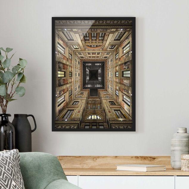 Poster con cornice - Galleria Sciarra In Rome - Verticale 4:3