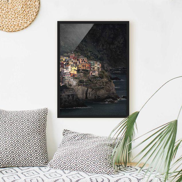 Poster con cornice - Illuminated Manarola - Verticale 4:3