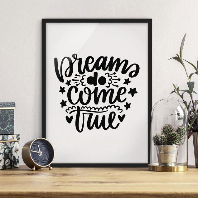 Poster con cornice - Dreams Do Come True - Verticale 4:3