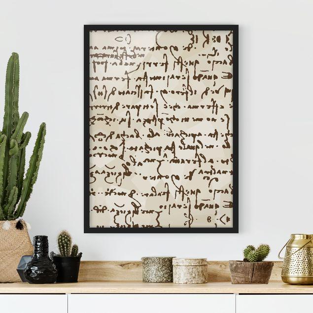 Poster con cornice - Da Vinci Manuscript - Verticale 4:3