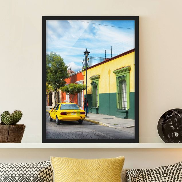 Poster con cornice - Colorful Mexican Street - Verticale 4:3