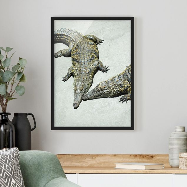Poster con cornice - Crocodile Romance - Verticale 4:3
