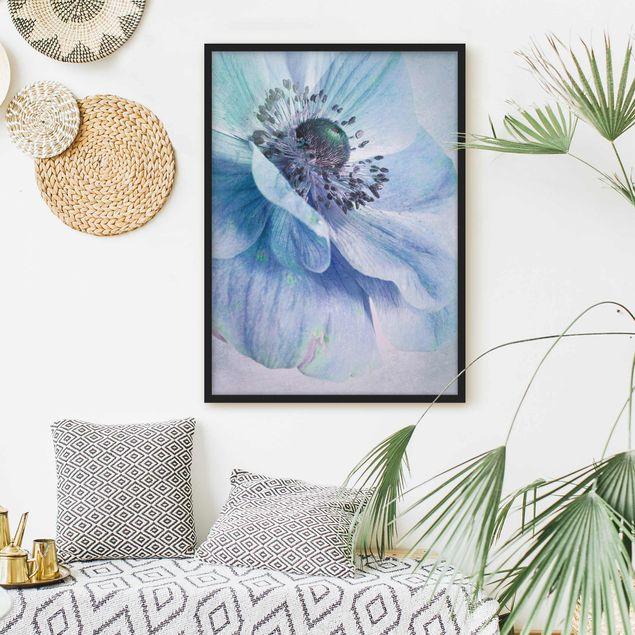 Poster con cornice - Blossom In Turquoise - Verticale 4:3