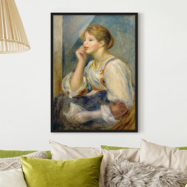 Poster con cornice - Auguste Renoir - Woman With A Letter - Verticale 4:3