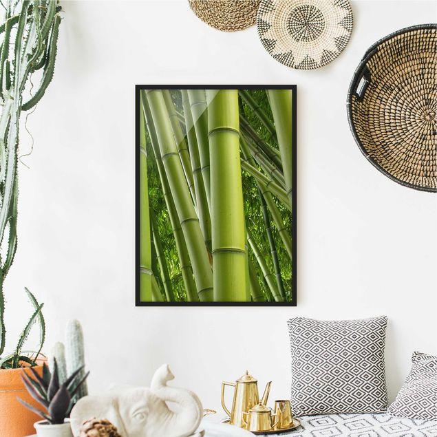 Poster con cornice - Bamboo Trees No.2 - Verticale 4:3