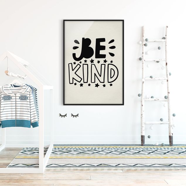 Poster con cornice - Be Kind - Verticale 4:3