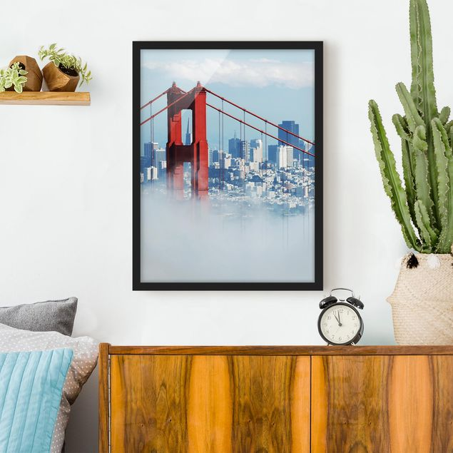 Poster con cornice - Good Morning San Francisco! - Verticale 4:3