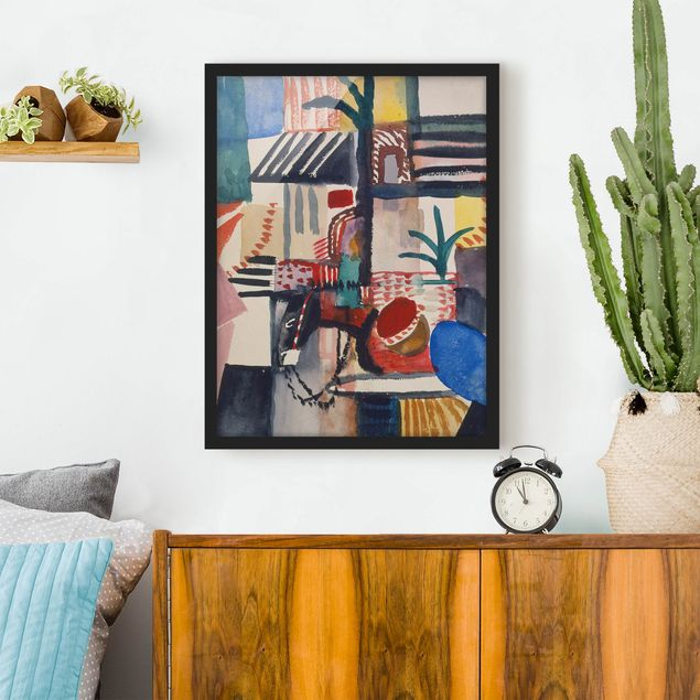 Poster con cornice - August Macke - Man With Donkey - Verticale 4:3