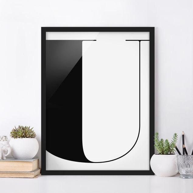 Poster con cornice - Antiqua Letter U - Verticale 4:3