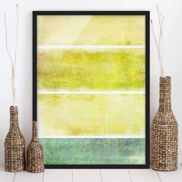 Poster con cornice - Color Harmony Yellow - Verticale 4:3