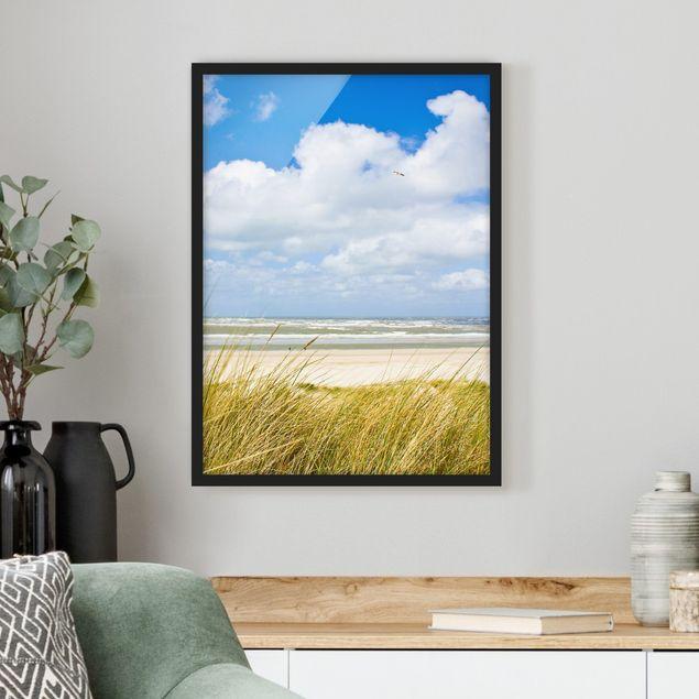 Poster con cornice - At The North Sea Coast - Verticale 4:3