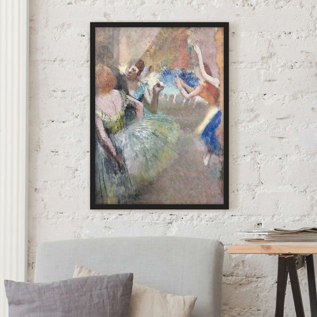 Poster con cornice - Edgar Degas - Ballet Scene - Verticale 4:3