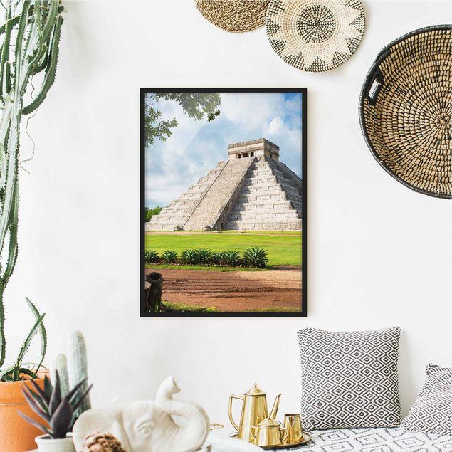 Poster con cornice - El Castillo Pyramid - Verticale 4:3
