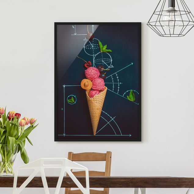 Poster con cornice - Geometry In Summer - Verticale 4:3