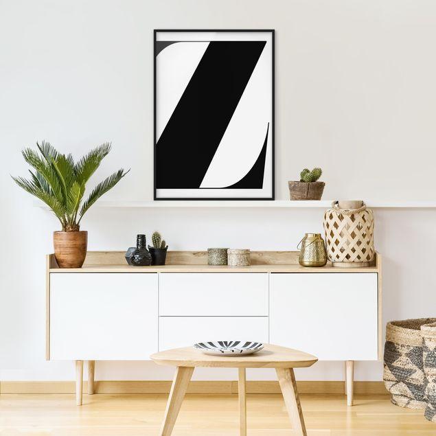Poster con cornice - Antiqua Letter Z - Verticale 4:3