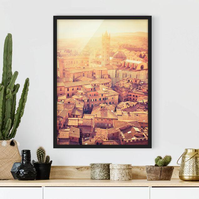 Poster con cornice - Fiery Siena - Verticale 4:3