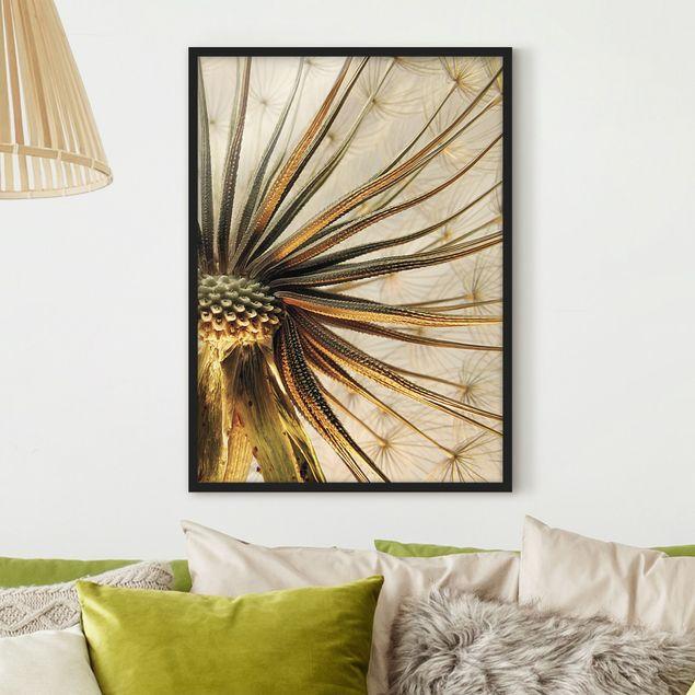 Poster con cornice - Dandelion Close Up - Verticale 4:3