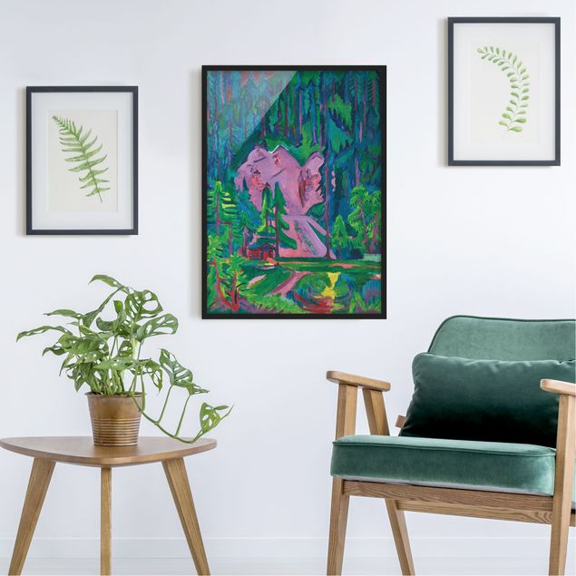 Poster con cornice - Ernst Ludwig Kirchner - Quarry In The Wild - Verticale 4:3