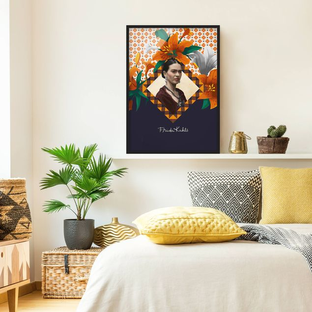 Poster con cornice - Frida Kahlo - Lilies - Verticale 4:3