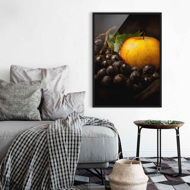Poster con cornice - Dark Still Life - Verticale 4:3