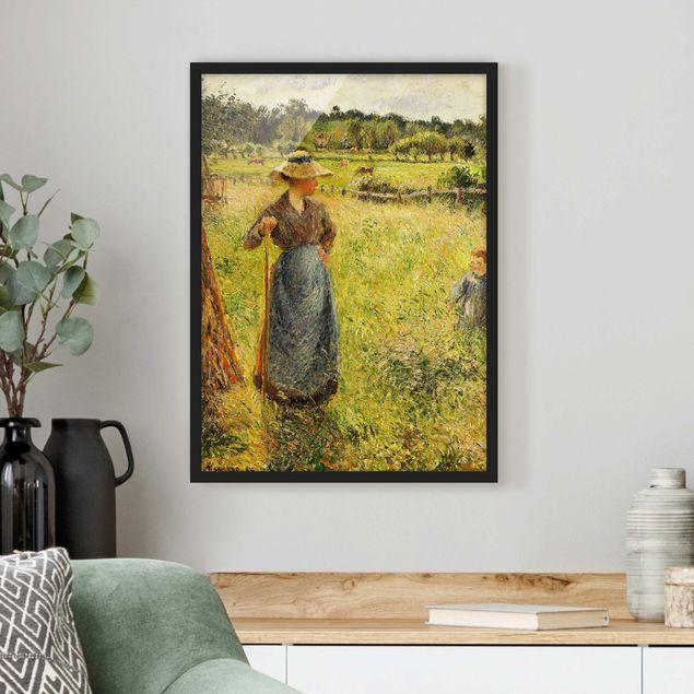 Poster con cornice - Camille Pissarro - The Haymaker - Verticale 4:3