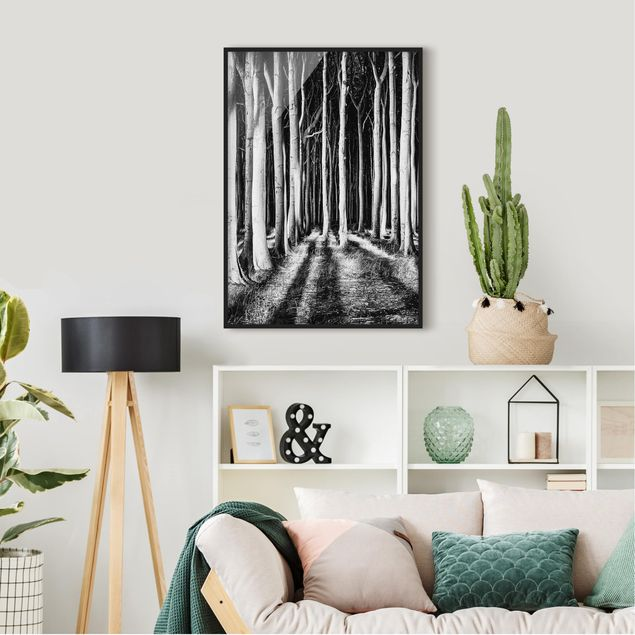 Poster con cornice - Ghostly Forest - Verticale 4:3