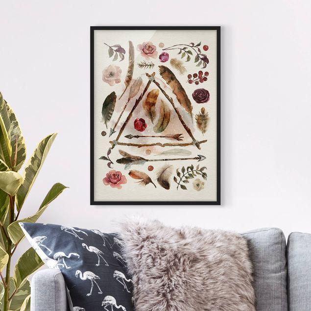 Poster con cornice - Finds - Watercolors - Verticale 4:3