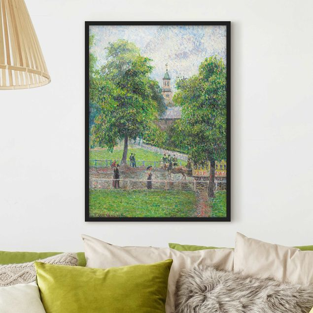 Poster con cornice - Camille Pissarro - Saint Anne'S Church, Kew, London - Verticale 4:3