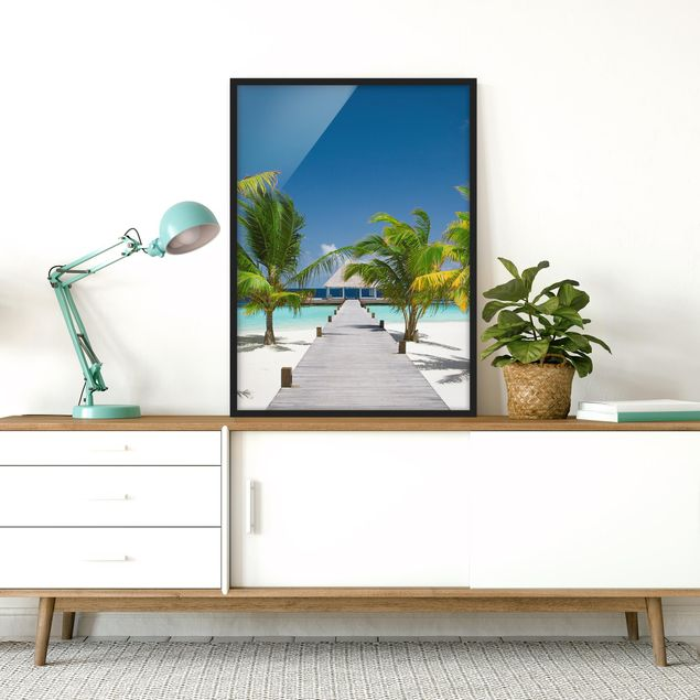 Poster con cornice - Catwalk To Paradise - Verticale 4:3